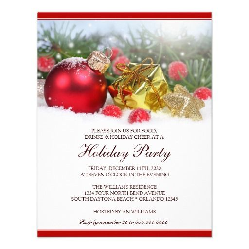 Unique Holiday Party Invitation Template – Unique Christmas Party Invitations