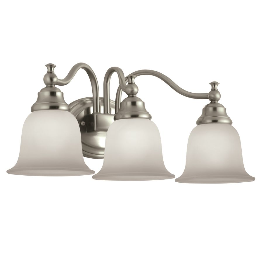 Bathroom Vanity Lights Pinterest portfolio 3-light brandy chase brushed nickel bathroom vanity