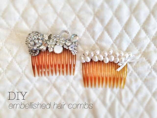 2 pieces of silver or gold small hair combs diy bridal wedding metal hair combs