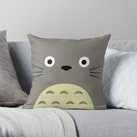 Totoro Throw Pillow, Pillow covers 16x16, Pillow covers 18x18, pillow case, pillow cover, Throw