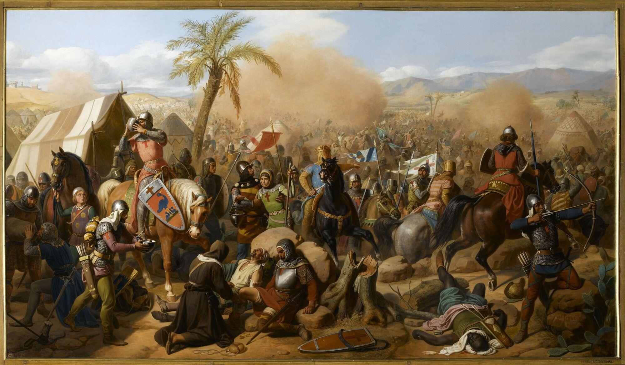 The Battle of Ascalon : 12 VIII 1099 AD, by Jean Victor Schnetz. |  Cruzadas, Tropas, Templarios