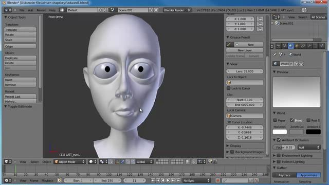 Creating an Advanced Face Rig - Part One  In this Blender