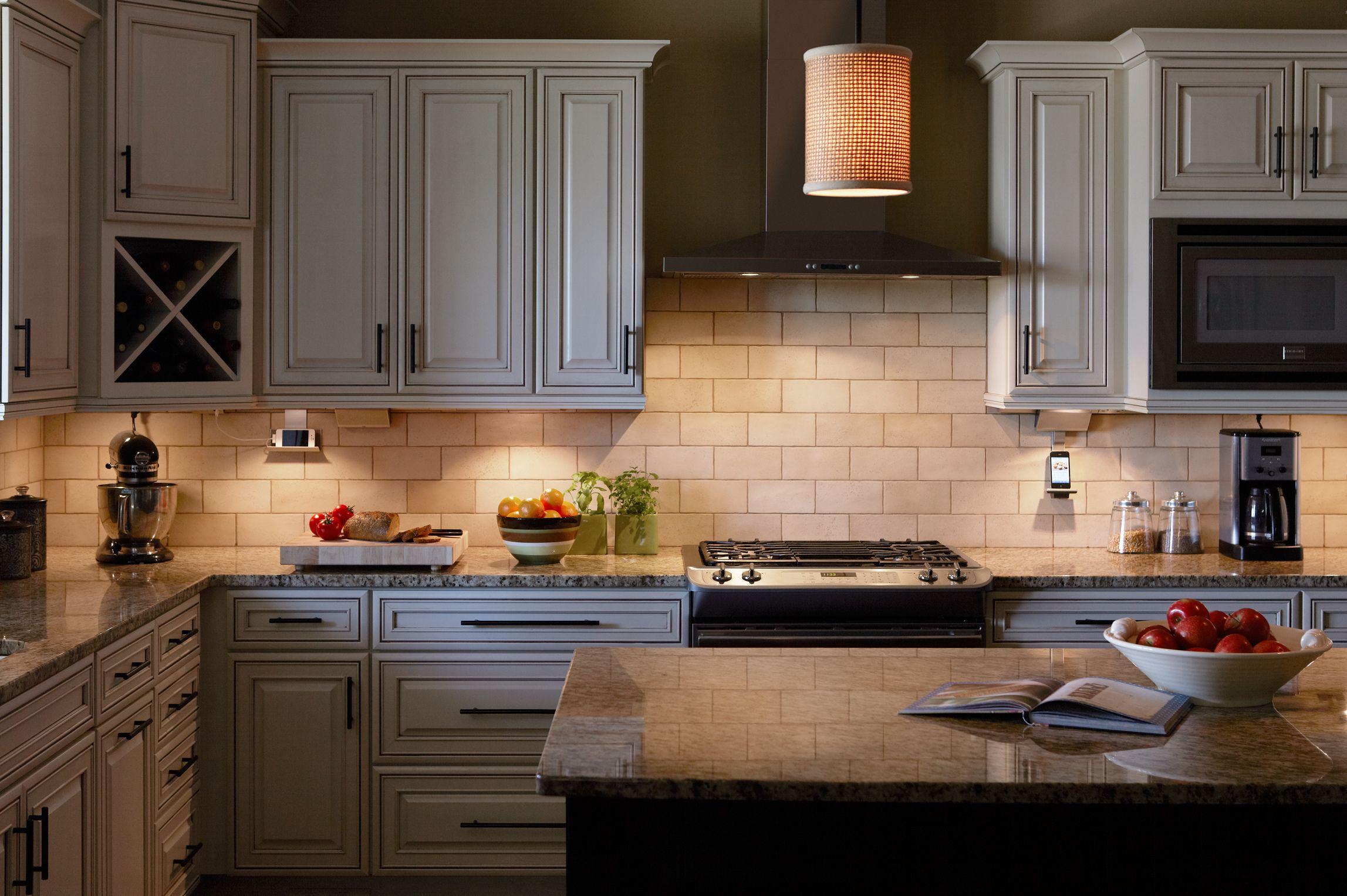 Lighting under cabinets LED Puck Linear Lights Designed by Donna