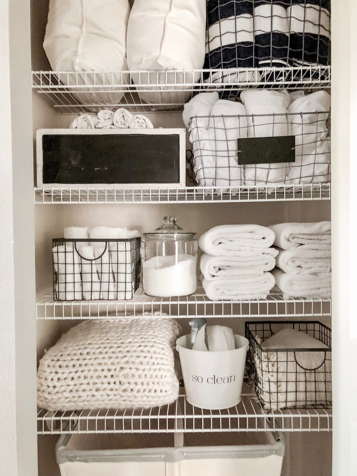 Simple Easy Small Linen Closet Organization Organizing A Tiny Hall Closet With Towels An Linen Closet Storage Linen Closet Organization Small Linen Closets