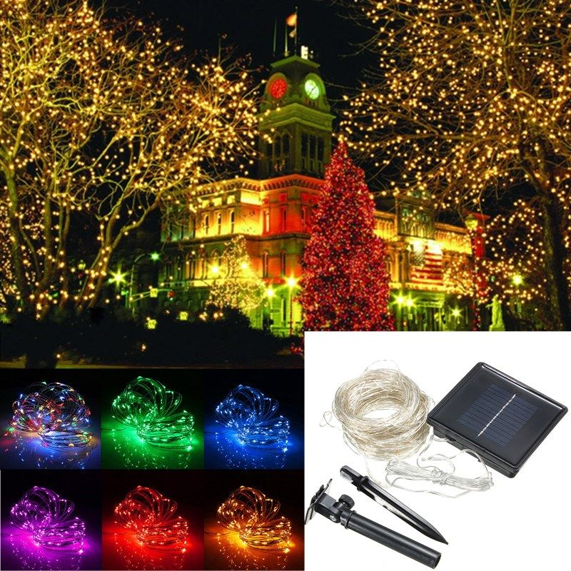 Wholesale Price Free Shipping Holiday Wire Lights 32m Solar