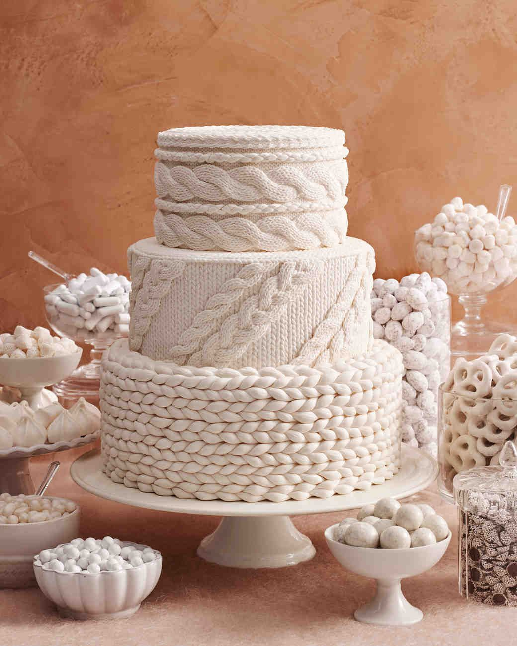 These fabricinspired wedding cakes make for fashionable desserts
