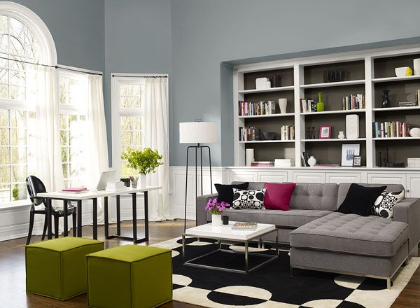 Living Room Painted In A Bluegrey Colour Combinationvan Inspiration Blue Color Living Room Designs Decorating Design