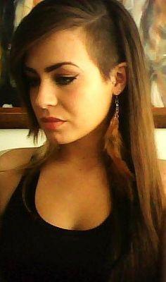 Shaved Long Hair On Pinterest Half Shaved Hairstyles Women S Undercut Long Hair Shaved Long Hair Half Shaved Hair
