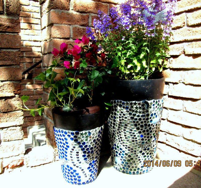 Art Za Grosik Dekorowanie Donic Na Kwiaty Mozaika Planters Planter Pots Pot
