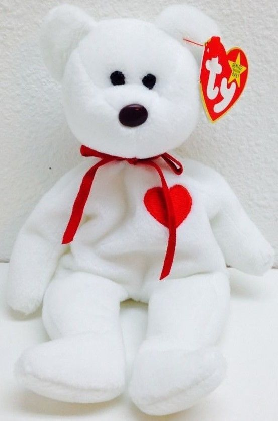 Ty Valentino Beanie Baby ERROR Suface and Origiinal on Hang Tag RARE ... dcdd21332cf7