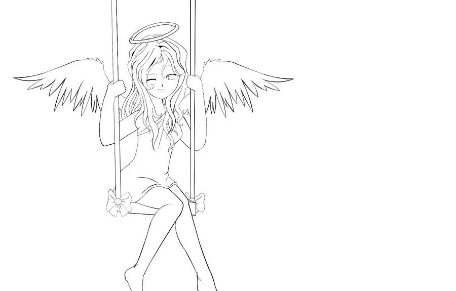 anime angel outline - Google Search | Fan Art /Drawing ...