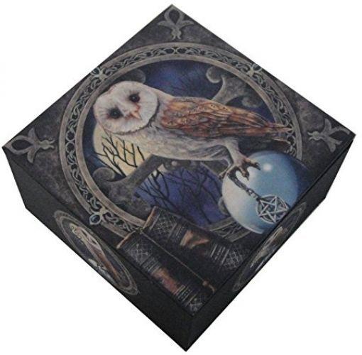 Nemesis Now Lisa Parker The Spell Keeper Owl Mirror Trinket Jewelry Box #PTC