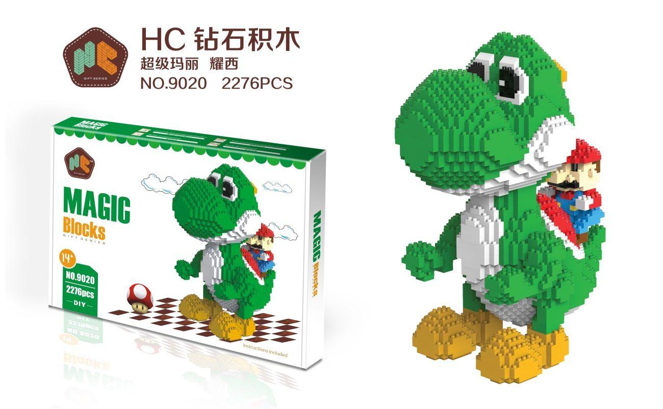 HC Magic Blocks Yoshi 9020 | HC Magic Blocks | Toys, Building toys ...
