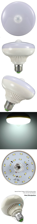 LumiParty Sensor LED Lamp E27 12w LED Infrared Motion Detection