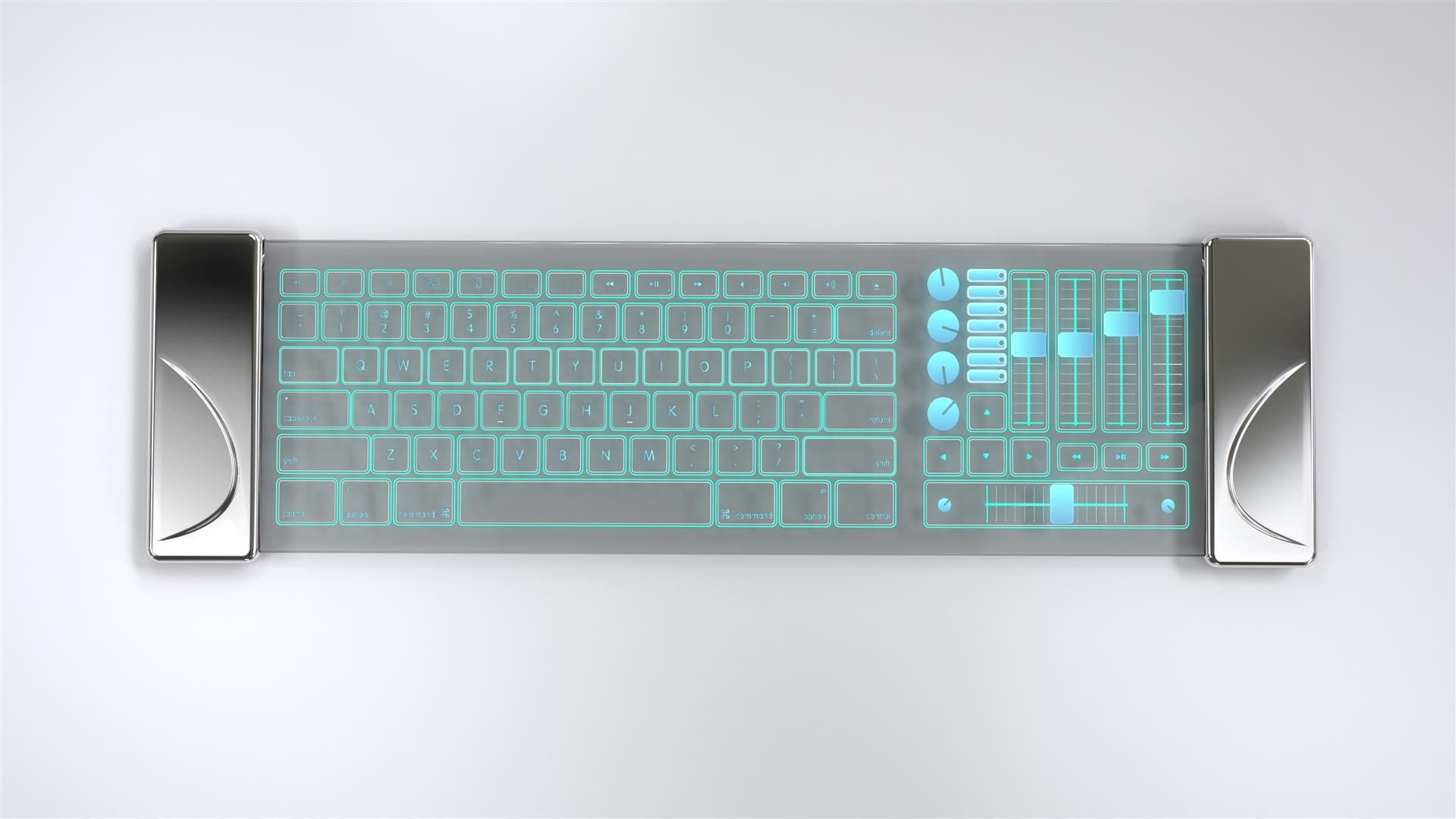 Luxury Futuristic Keyboard Texture