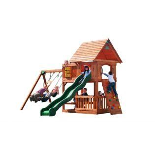 Backyard Discovery Klondike Swing Set Playset Outdoor Play