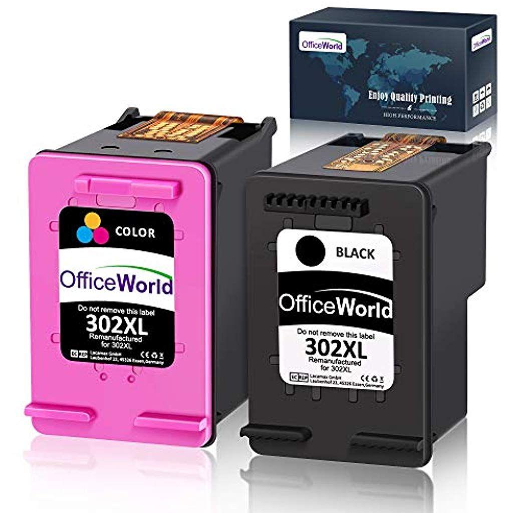 Officeworld Remanufactured Hp 302 Xl Druckerpatronen Schwarz Farbe Mit Hoher Reichweite Fur Hp Officejet 3831 5230 In 2020 Datenspeicher Tintenpatronen Dockingstation