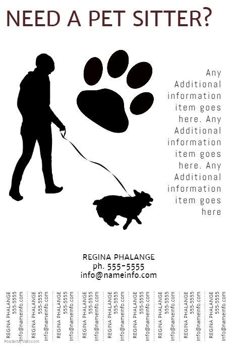 free printable dog walking flyers