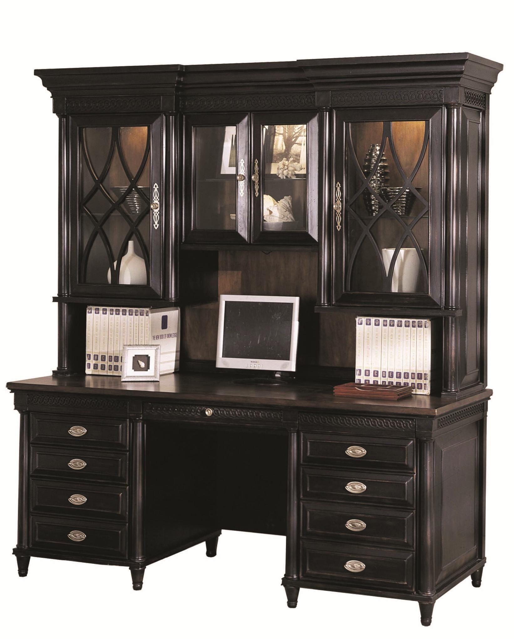 Young Classics Credenza Desk And Hutch By Aspenhome. Home Office ...
