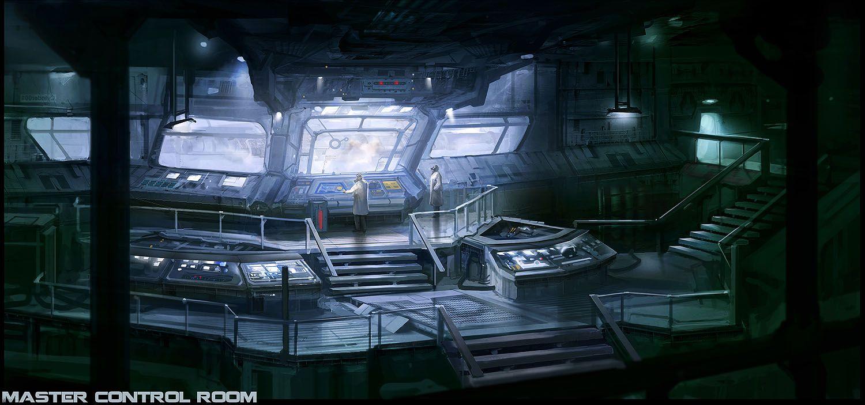 Cyberpunk atmosphere future futuristic sci fi master for Futuristic control room