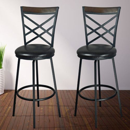 found it at wayfair adjustable height swivel bar stool with