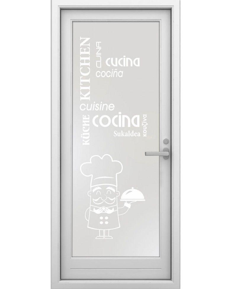 Vinilo translucido para puertas de cocina 22 letreros - Vinilos puertas cristal ...