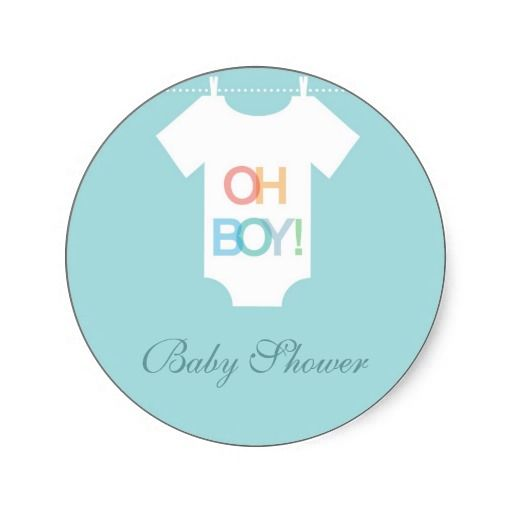 cute BOY dress baby shower stickers Stickers