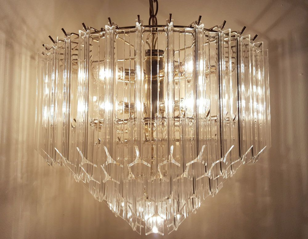Contemporary VENINI ERA LUCITE ACRYLIC CHANDELIER MID CENTURY MODERN HOLLYWOOD REGENCY Photo - Beautiful mid century ceiling light Luxury