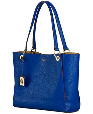 dde1e785f2 Lauren Ralph Lauren Aiden Shopper - Handbags   Accessories - Macy s ...