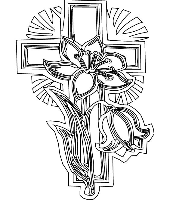 Printable Cross Coloring Pages | Sunday School | Pinterest | Adult ...