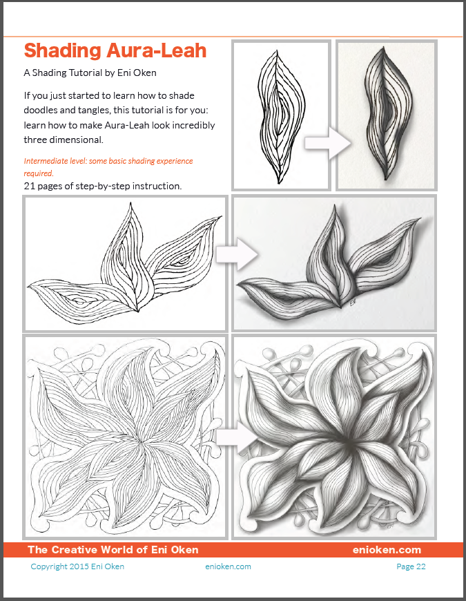 shading aura leah 3d tangle tutorial by eni oken