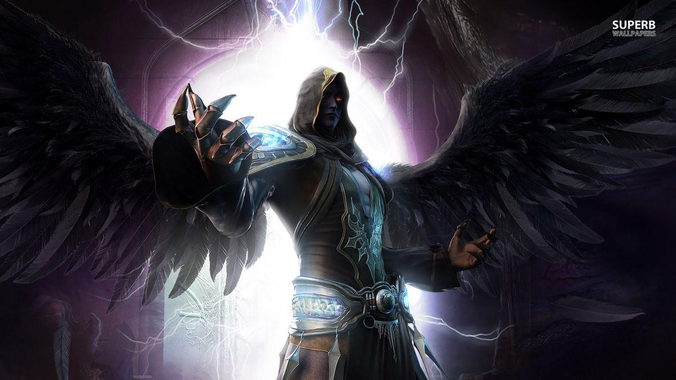 Dark and Light Angel Dark angel wallpaper 1366x768