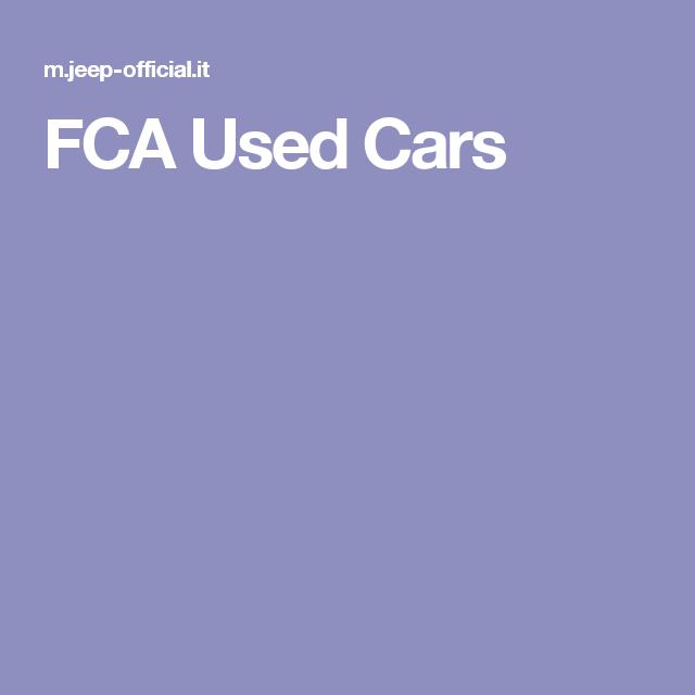 FCA Used Cars