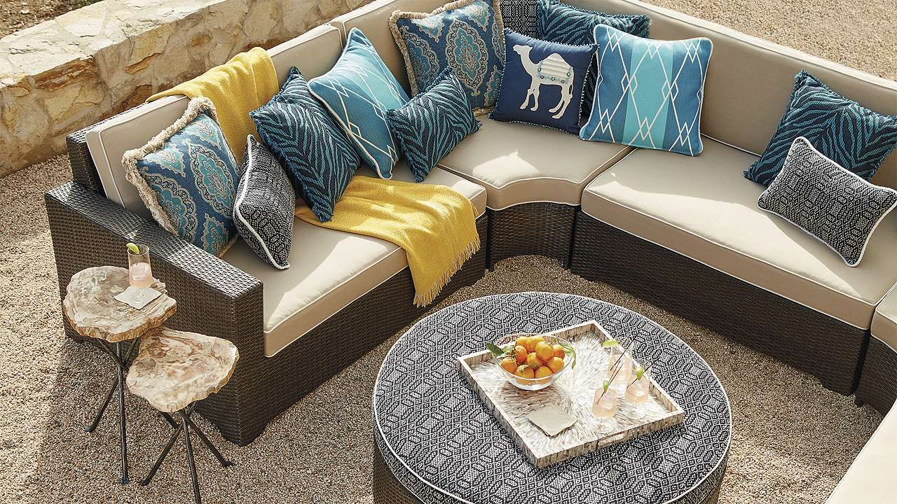 Palermo oversized modular seating in bronze finish outdoor rooms