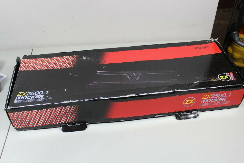 Kicker ZX 2500 1 Mono Car Amplifier in Box (BHK) ( 42 Bids