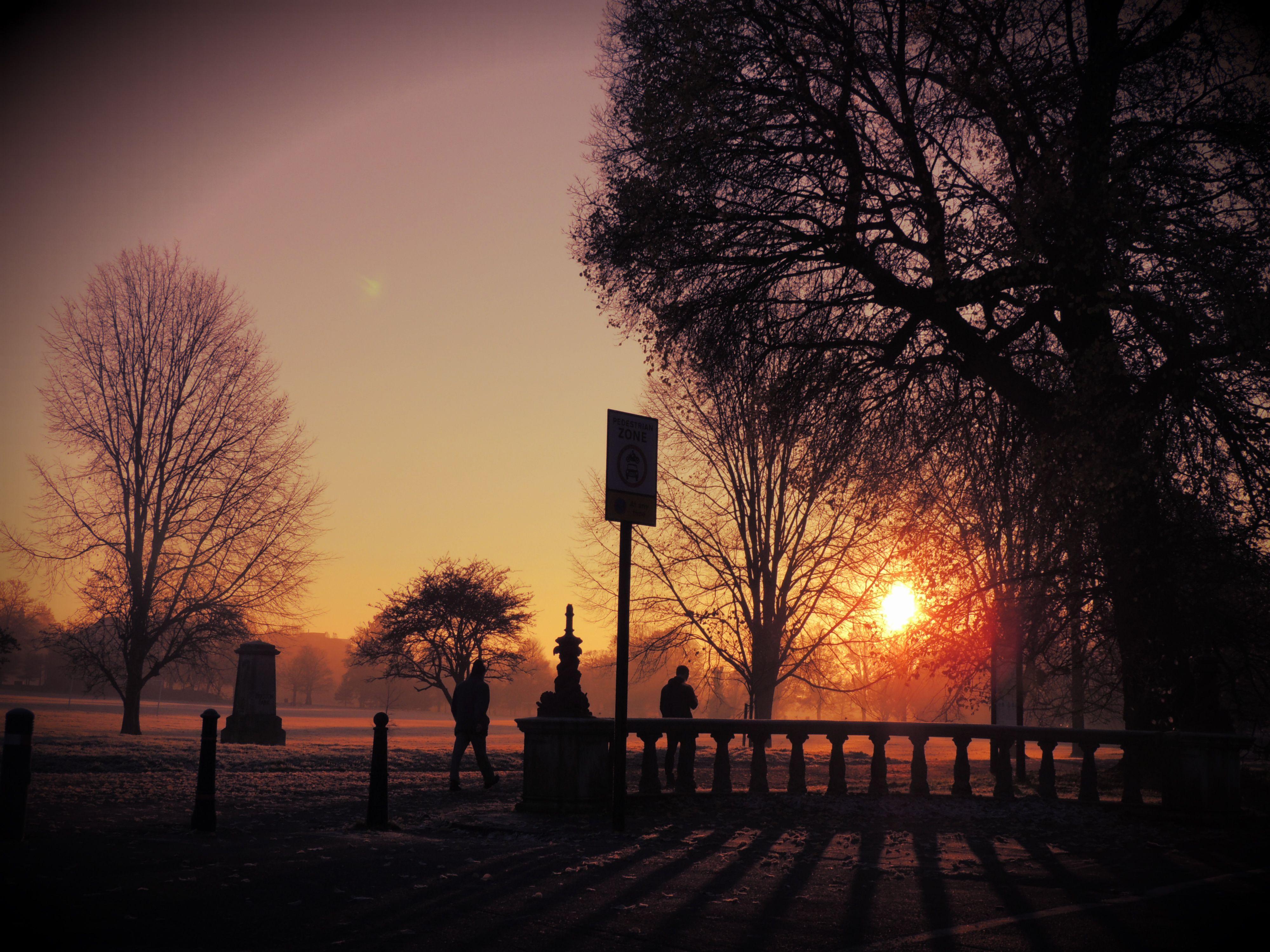 A crisp winter walk to work Preston Park Brighton and