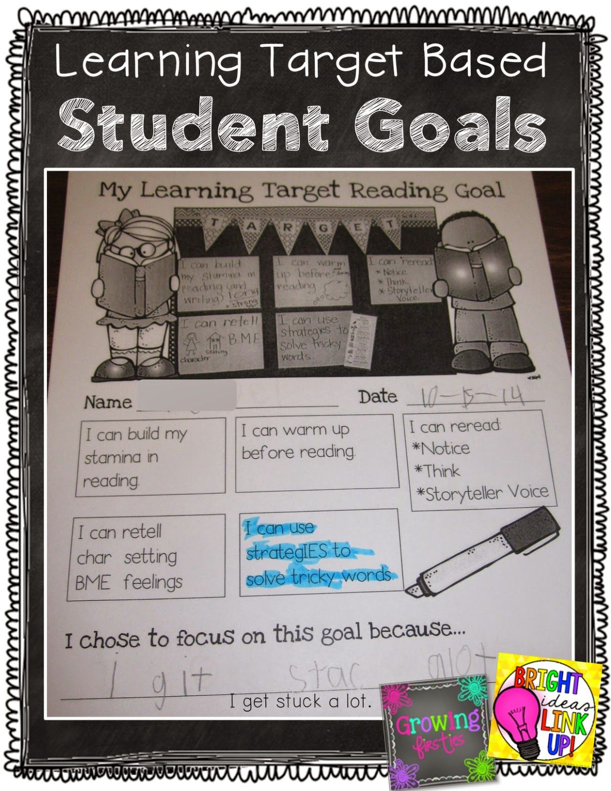 Growing Firsties Student Goal Setting Based On Learning Targets