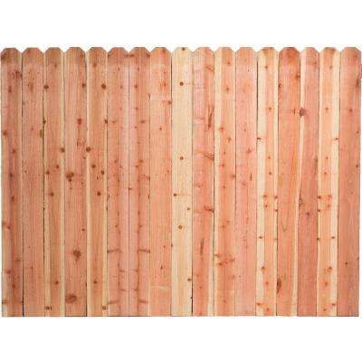 6 Ft H X 8 Ft W Construction Common Redwood Dog Ear Fence Panel Dog Ear Fence Redwood Fence Fence Panels