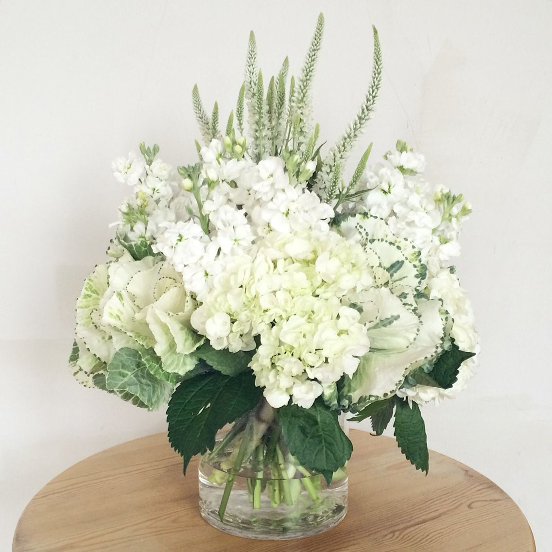 Flower Arrangement For Church Wedding White And Green