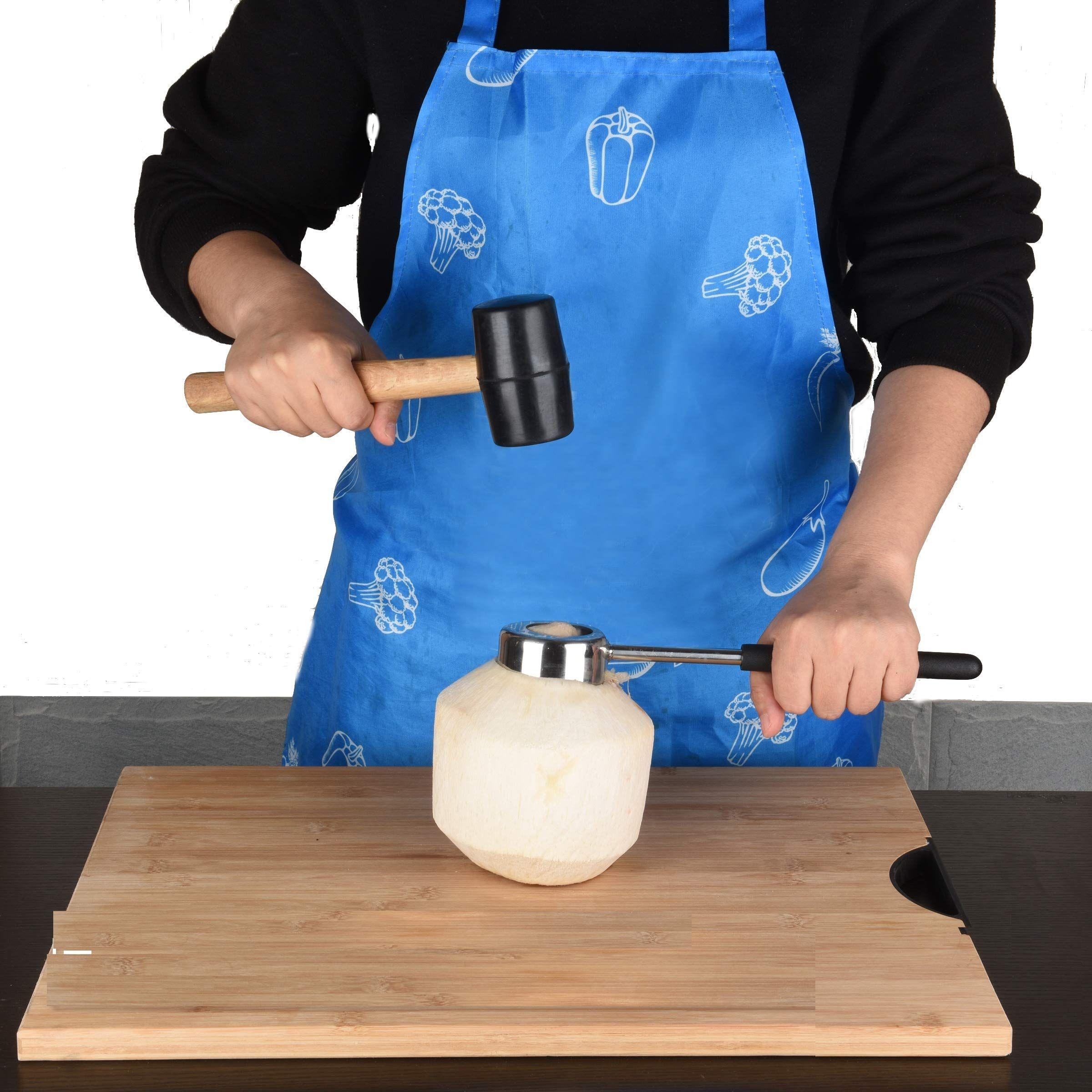silva coconut opener with safety grip and hammer set bonus