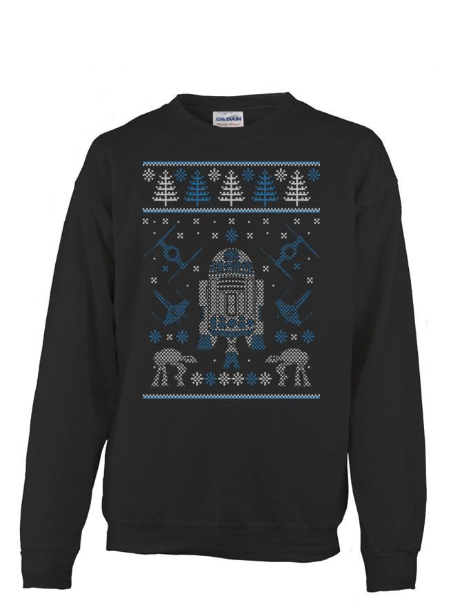 r2d2 ugly christmas sweater teechip
