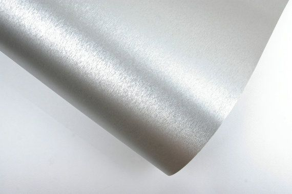 Interior Film Metal Silver 2m Bubble Free Wallpaper Self Adhesive
