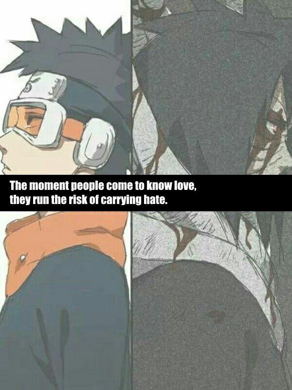 Obito Quote Anime Naruto Naruto Quotes Naruto Characters