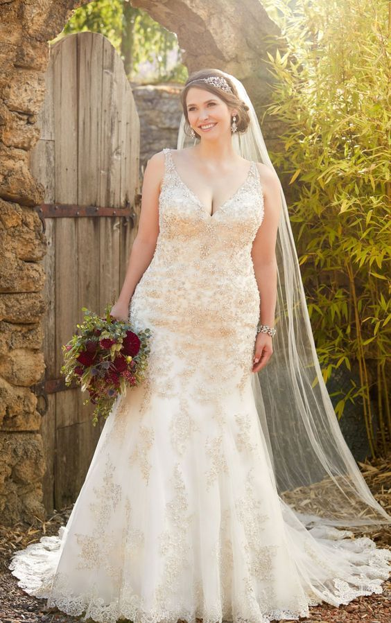 e439e1b3a8 Plus size wedding dress available at The Bridal Boutique by MaeMe ...