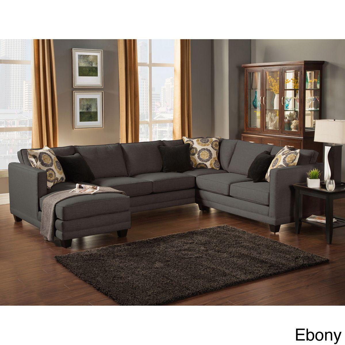 furniture of america zeal lavish contemporary 3 piece fabric