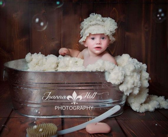 Bath Tub Photography Props Sudsy Soap Suds Blanket By Babybirdz