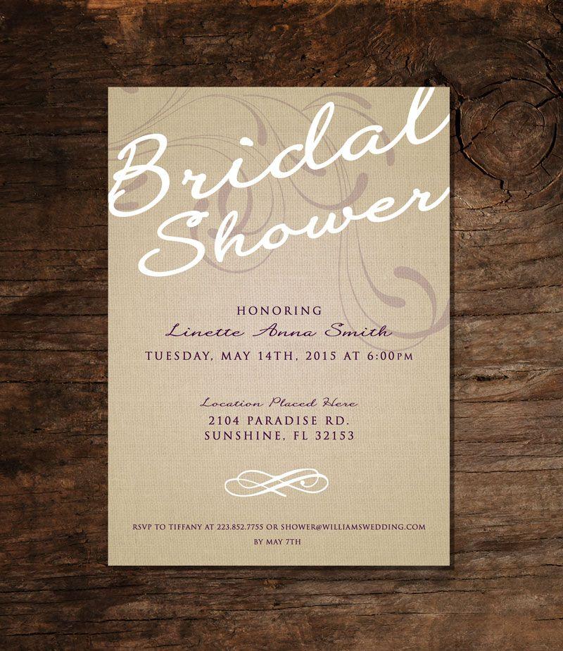 Free Bridal Shower Invite PSD Free Bridal