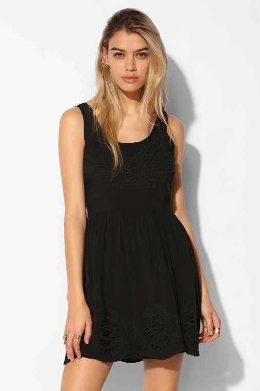 Pins And Needles Clothing Pins And Needles Scallophem Fit  Flare Dress  Urban Outfitters