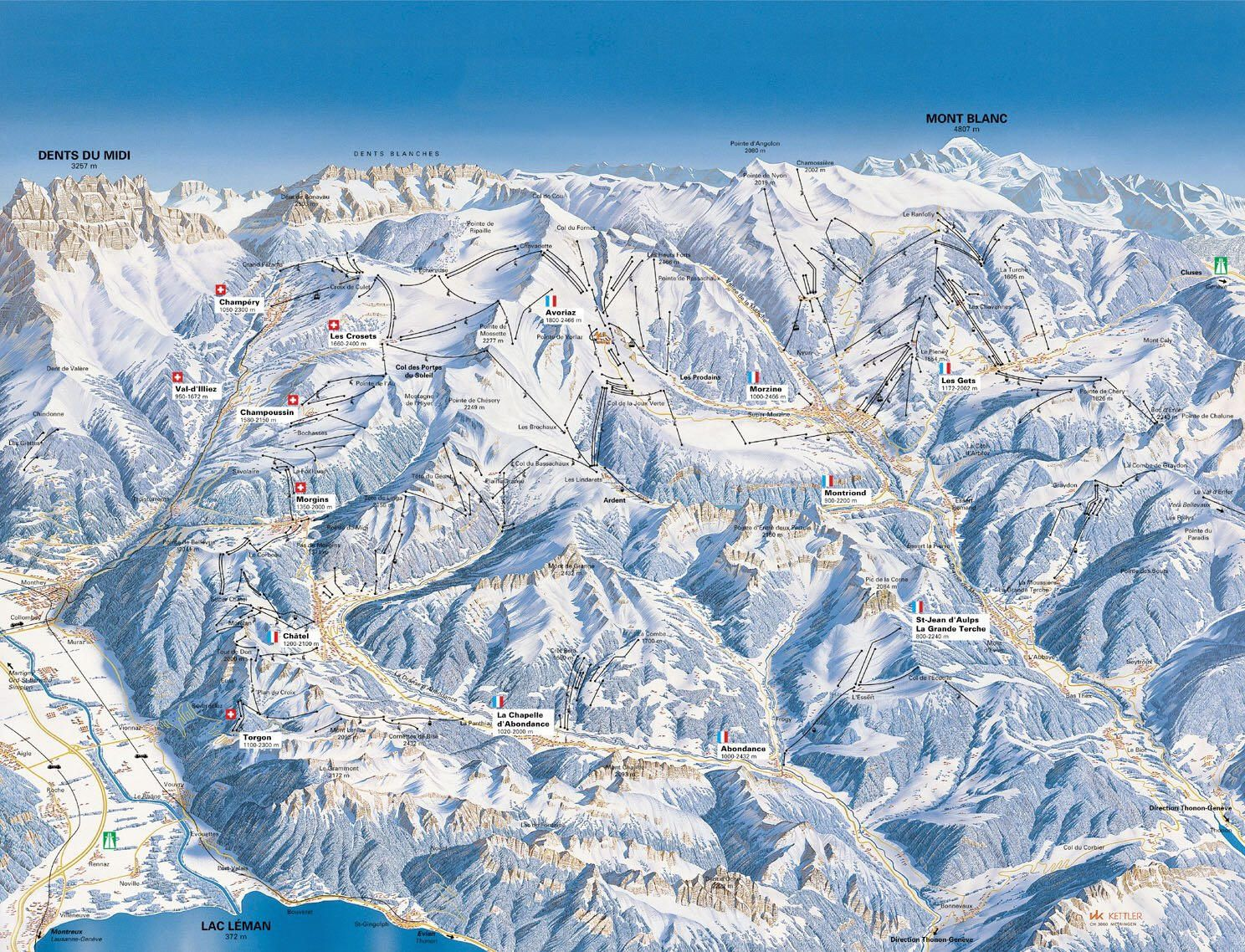 Map Of French Alps French Alps Map | France Map   Map of French Alps | where to visit  Map Of French Alps