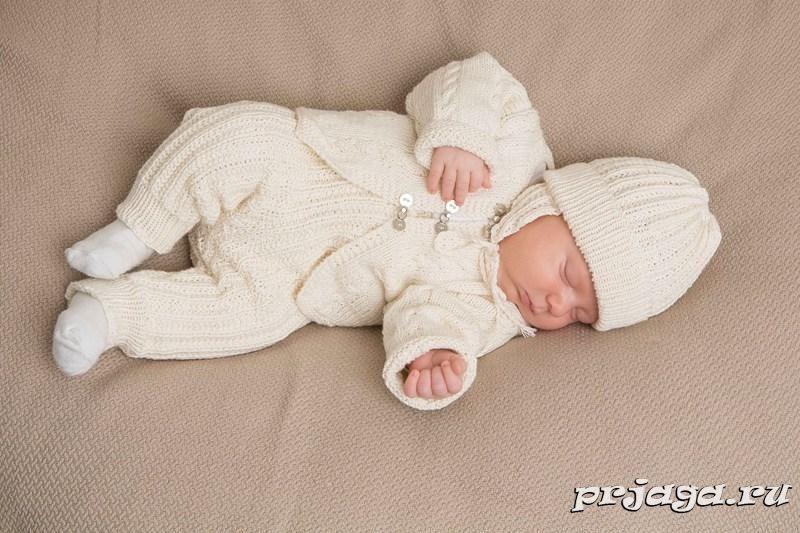 связать костюм для новорожденных схемы